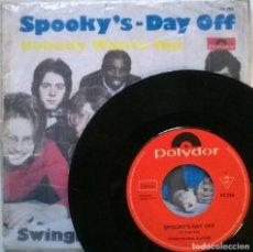 Discos de vinilo: SWINGING SOUL MACHINE. SPOOKY'S/ DAY OFF. POLYDOR, GERMANY 1969 SINGLE + COPIA DE CUBIERTA. Lote 70488969