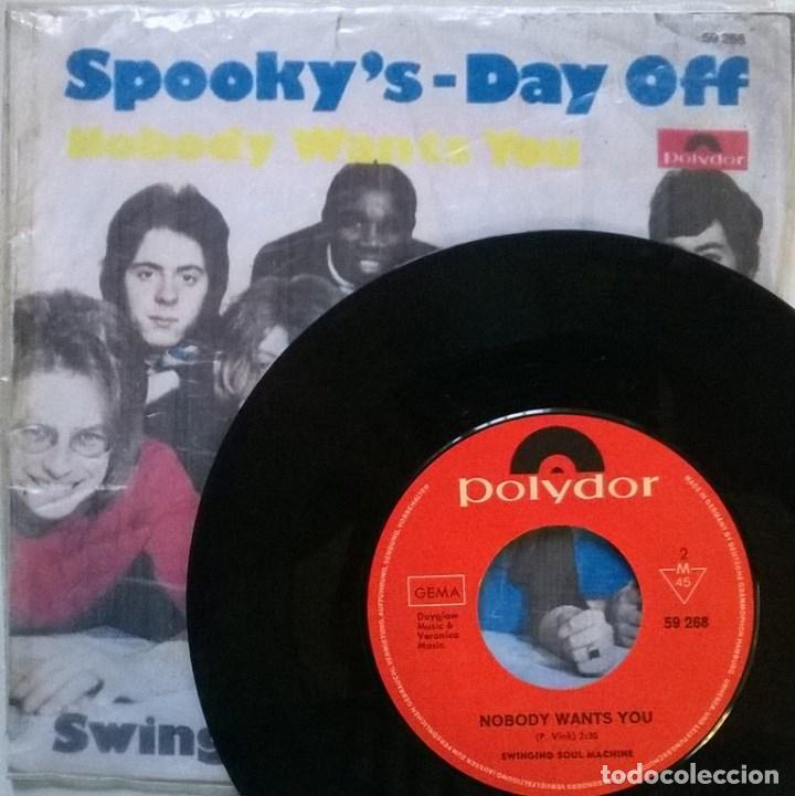 Discos de vinilo: Swinging Soul Machine. Spooky's/ Day off. Polydor, Germany 1969 single + copia de cubierta - Foto 2 - 70488969