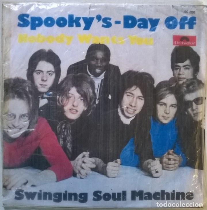 Discos de vinilo: Swinging Soul Machine. Spooky's/ Day off. Polydor, Germany 1969 single + copia de cubierta - Foto 3 - 70488969