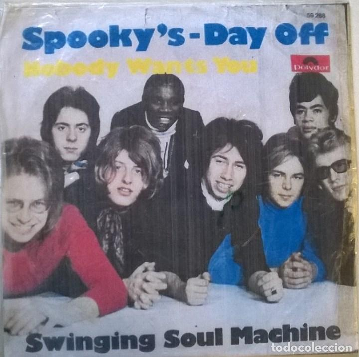 Discos de vinilo: Swinging Soul Machine. Spooky's/ Day off. Polydor, Germany 1969 single + copia de cubierta - Foto 4 - 70488969