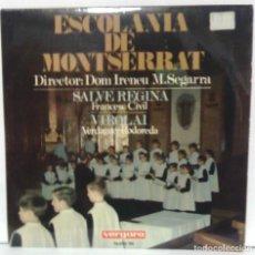 Discos de vinilo: ESCOLANIA DE MONTSERRAT - SALVE REGINA - 1967 VERGARA 14.001 - SC. Lote 70496013