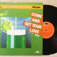 Discos de vinilo: LIME COME AND GET YOUR LOVE MAXI SINGLE 45 RPM VINYL MADE IN SPAIN 1982. Lote 70497073