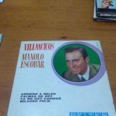 Discos de vinilo: VILLANCICOS MANOLO ESCOBAR. ARRIERO A BELEN. MB2. Lote 70509013