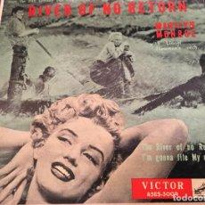 Discos de vinilo: MARILYN MONROE (RIVER OF NO RETURN / I'M GONNA FILE MY CLAIM) SINGLE 45ES-5004 JAPAN (P-1887) (EPI4). Lote 70510773