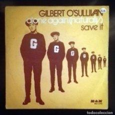 Discos de vinilo: GILBERT OSULLIVAN - ALONE AGAIN -. Lote 70527521