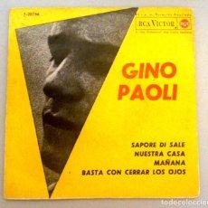 Discos de vinilo: GINO PAOLI - SAPORE DI SALE -. Lote 70527777