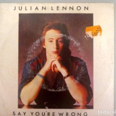 Discos de vinilo: JULIAN LENNON - SAY YOU'RE WRONG -. Lote 70533853
