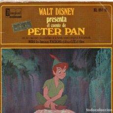 Discos de vinilo: LIBRO DISCO PETER PAN 1968 WALT DISNEY -. Lote 70537225