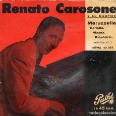 Discos de vinilo: X - RENATO CAROSONE EP 1968 MARUZZELLA + CARLOTTA + 2. Lote 70538457