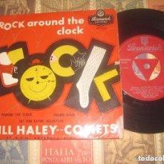 Discos de vinilo: BILL HALEY AND THE COMETS ROCK AROUND THE CLOCK (BRUNSWICK-1956) OG ENGLAND. Lote 70539985