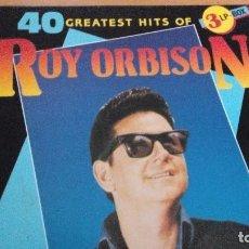 Discos de vinilo: ROY ORBISON 40 GREATEST HITS OF ROY ORBISON CAJA CON 3XLPS. Lote 70579465