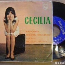 Discos de vinilo: CECILIA PORQUE PORQUE + 3*EP 45 PHILIPS 1963*YE-YE . Lote 70640281