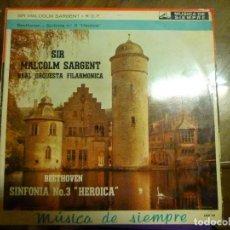 Discos de vinilo: BEETHOVEN SINFONIA 3 HEROICA MALCOLM SARGENT. Lote 70678949