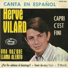 Discos de vinilo: HERVE VILARD (EN ESPAÑOL) . MAXI SINGLE . SELLO MERCURY RECORDS. EDITADO EN ESPAÑA. AÑO 1965. Lote 70740341