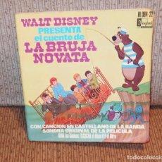 Disques de vinyle: LA BRUJA NOVATA,WALT DISNEY,45 R.P.M.,DISCO CUENTO,AÑO 1975. Lote 71004381
