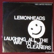 Discos de vinilo: LEMONHEADS-LAUGHING ALL THE WAY TO THE CLEANERS (7´´SINGLE) EDICION LIMITADA EN VINILO AZUL . Lote 71029021