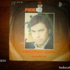 Discos de vinilo: PSOE - COMPAÑERO UNETE + MI PUEBLO ES . Lote 71037077