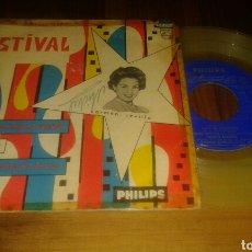 Discos de vinilo: CARMEN SEVILLA FESTIVAL DE BENIDORM:ERES DIFERENTE+2.GUIJARRO ALGUERO(EP.1960.7