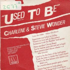 Discos de vinilo: CHARLENE & STEVIE WONDER / SOLIA SER / I WANT TO COME BACK AS SONG (SINGLE PROMO 1982). Lote 71044225