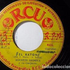 Discos de vinilo: AGUSTIN BEDOYA EL RATON / POR SI LA OLVIDO SENCILLO SINGLE S28 G RARO Y MUY ESCASO. Lote 71067457