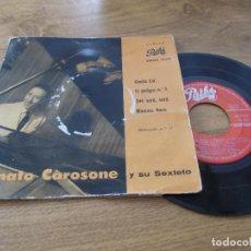 Disques de vinyle: RENATO CAROSONE,CHELLA LLA, EL PELIGRO Nº 1, QUE SERÁ SERÁ, MAMMA ROSA.. Lote 71098565