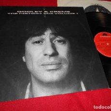 Discos de vinilo: GODLEY&CREME THE HISTORY MIX VOLUME 1 LP 1985 POLYDOR EDICION ESPAÑOLA SPAIN. Lote 71105645