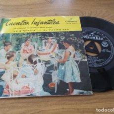 Discos de vinil: CUENTOS INFANTILES. POR EL CUADRO DE ACTORES DE RADIO MADRID. LA SIRENITA, EL PATITO FEO. Lote 71111577