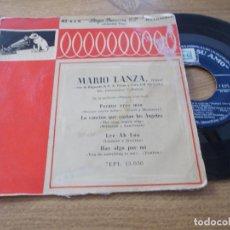 Discos de vinilo: MARIO LANZA. PORQUE ERTES MIA.LA CANCION QUE CANTAN LOS ANGELES.LEE-AH-LOO, HAZ ALGO POR MÍ. Lote 71111801