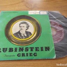Discos de vinilo: RUBINSTEIN. INTERPRETA GRIEG. Lote 71111885