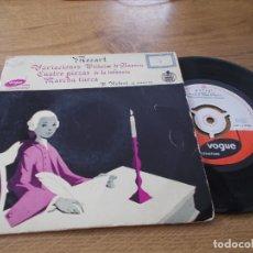 Discos de vinilo: MOZART. VARIACIONES, CUATRO PIEZAS DE LA INFANCIA, MARCHA TURCA.. Lote 71111985