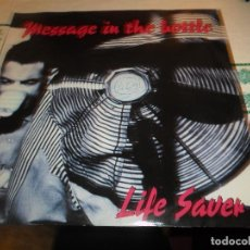 Discos de vinilo: MESSAGE IN THE BOTTLE LIFE SAVER. Lote 71190273
