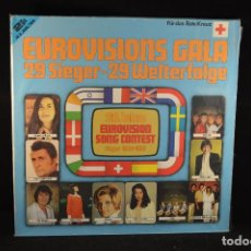 Discos de vinilo: VARIOUS - EUROVISIONS GALA - 29 SIEGER - 29 WELTERFOLGE - 2 LP. Lote 71196381