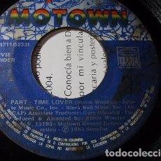 Discos de vinilo: STEVIE WONDER PART - TIME LOVER 1985 SINGLE SENCILLO S29 G-. Lote 71216501