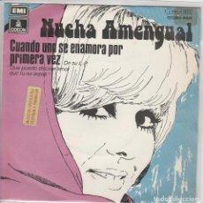 Discos de vinilo: NUCHA AMENGUAL / CUANDO UNO SE ENAMORA POR PRIMERA VEZ + 1 (SINGLE PROMO 1975). Lote 71227647