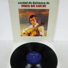 Discos de vinilo: PACO DE LUCIA - RECITAL DE GUITARRA - LP - PHILIPS 1975 EDICION CIRCULO DE LECTORES. Lote 71244459