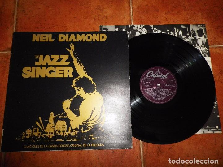 NEIL DIAMOND THE JAZZ SINGER BANDA SONORA LP VINILO 1980 ESPAÑA PORTADA DOBLE CON ENCARTE 14 TEMAS (Música - Discos - LP Vinilo - Bandas Sonoras y Música de Actores )
