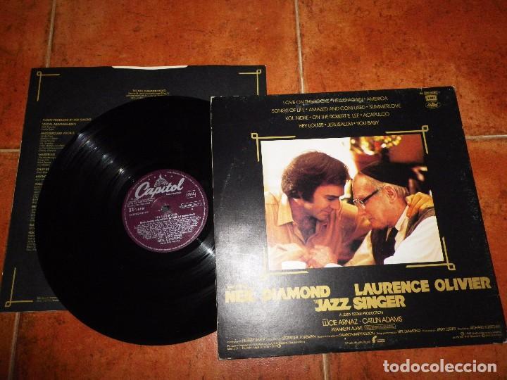 Discos de vinilo: NEIL DIAMOND The jazz singer BANDA SONORA LP VINILO 1980 ESPAÑA PORTADA DOBLE CON ENCARTE 14 TEMAS - Foto 3 - 71380791