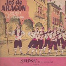 Discos de vinilo: LOS DE ARAGÓN - ZARZUELA. LONDON.. Lote 71421815