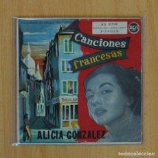 Disques de vinyle: ALICIA GONZALEZ - TOI L´OISEAU + 3 - EP. Lote 71448007