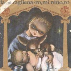 Discos de vinilo: ESCOLANIA DEL COLEGIO DE SAN ANTONIO DE MADRID- LA NORAGÜENA + RO MI NIÑO, RO SINGLE VINILO ROJO . Lote 71450999