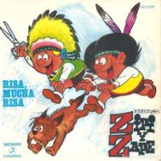 Discos de vinilo: ZIPI Y ZAPE- RISA, MUCHA RISA SINGLE + LIBRO 1971 EXCELENTE ESTADO . Lote 71452179