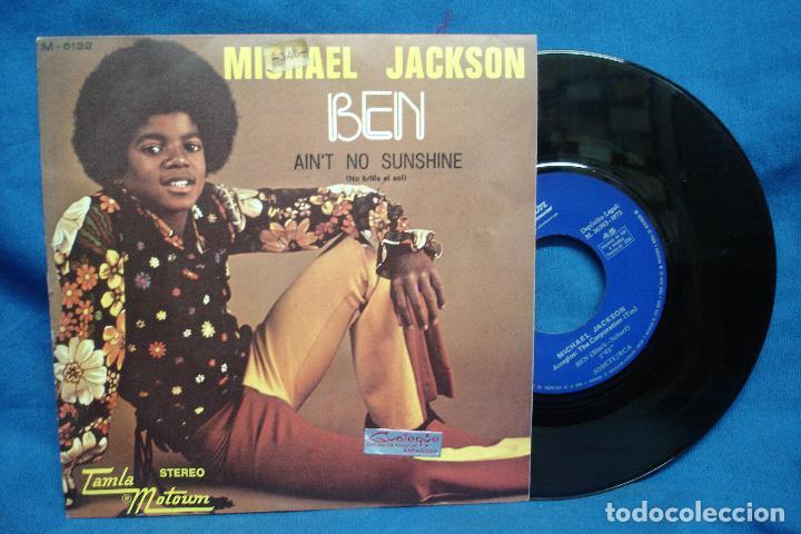 - MICHAEL JACKSON - BEN/ AIN´T NO SUNSHINE - TAMLA MOTOUM 1972 (Música - Discos - Singles Vinilo - Canción Francesa e Italiana)