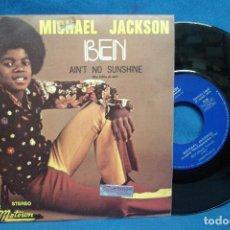 Discos de vinilo: - MICHAEL JACKSON - BEN/ AIN´T NO SUNSHINE - TAMLA MOTOUM 1972. Lote 71463079