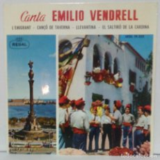 Discos de vinilo: EMILIO VENDRELL - 1963 - REGAL SEDL 19.332. Lote 71504603