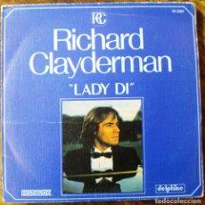 Discos de vinilo: SINGLE VINILO RICHARD CLAYDERMAN LADY DI. Lote 71517119