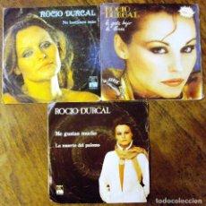 Discos de vinilo: LOTE SINGLES DE ROCIO DURCAL 3 ITEMS. Lote 71517815