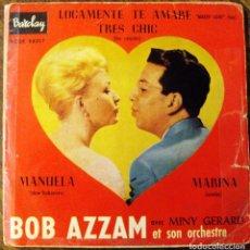 Discos de vinilo: VINILO SINGLE ORQUESTA DE BOB AZZAM BAILES DE SALON. Lote 71517991
