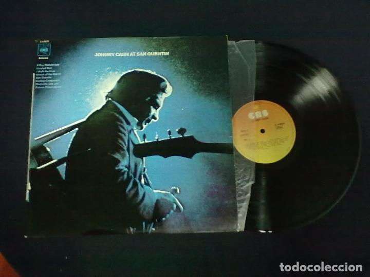 JOHNNY CASH AT SAN QUENTIN (Música - Discos de Vinilo - Maxi Singles - Country y Folk)