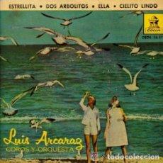 Discos de vinilo: LUIS ARCARAZ Y SU ORQUESTA– ESTRELLITA / DOS ARBOLITOS / ELLA / CIELITO LINDO - EP ODEON 1962. Lote 71524583