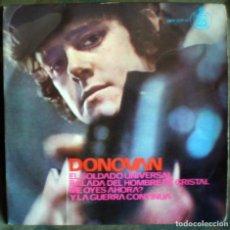 Discos de vinilo: DONOVAN – EL SOLDADO UNIVERSAL EP 4 TEMAS. Lote 71554103